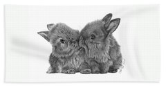 Kissing Bunnies - 035 Beach Towel