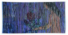 Kissing Rain Beach Towel
