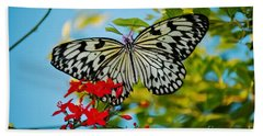Kite Butterfly Beach Towel by Peggy Franz