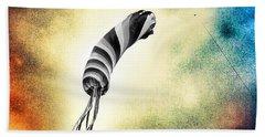 Kite In The Wind Beach Towel