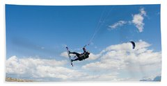 Kitesurfers Get Air While Harnessing Beach Towel