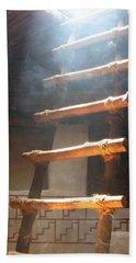 Beach Sheet featuring the photograph Kiva Ladder by Marcia Socolik