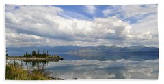 Beach Towel featuring the photograph Kluane Reflections by Cathy Mahnke