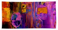 Beach Towel featuring the painting Wine Glass Ice Sculpture by Lisa Kaiser
