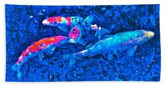 Beach Towel featuring the photograph Koi 2 by Pamela Cooper