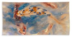 Koi Circle Beach Towel