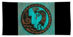 Beach Towel featuring the painting Kokopelli by Susie WEBER