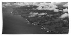 Kona And Clouds Beach Sheet