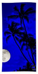 Kona Moon Rising Beach Towel