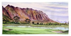 Koolau Golf Course Hawaii 16th Hole Beach Towel