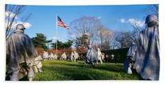 Korean Veterans Memorial Washington Dc Beach Towel