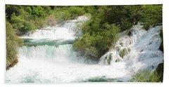 Krka Waterfalls Croatia Beach Towel