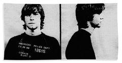 Kurt Cobain Mugshot Beach Towel