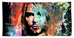 Kurt Cobain Portrait Beach Sheet