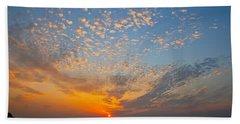 Kusadasi Sunset Beach Towel by Eric Tressler