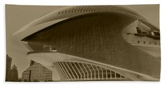Beach Towel featuring the photograph L' Hemisferic - Valencia by Juergen Weiss