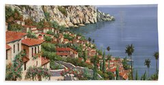 Beach Towel featuring the painting La Costa by Guido Borelli