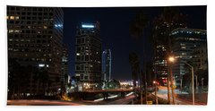 La Down Town 2 Beach Towel by Gandz Photography