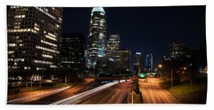 La Down Town Beach Towel by Gandz Photography