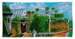 La Fortaleza San Juan Puerto Rico Beach Sheet by Frank Hunter