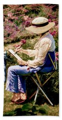Beach Towel featuring the photograph La Peintre by Chris Lord