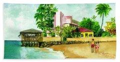 La Playa Hotel Isla Verde Puerto Rico Beach Towel
