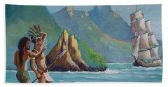 La Rencontre De Deux Mondes Beach Towel