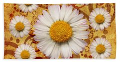 La Ronde Des Marguerites 0101a Beach Towel by Variance Collections