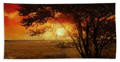 La Savana Al Tramonto Beach Towel by Guido Borelli