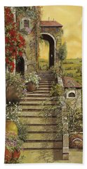 Beach Towel featuring the painting La Scala Grande by Guido Borelli