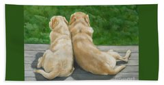 Labrador Lazy Afternoon Beach Towel