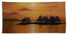 Lac La Biche  Sunset Beach Towel
