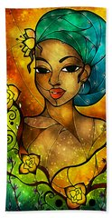 Lady Creole Beach Towel