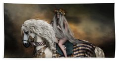 Beach Towel featuring the digital art Lady Godiva by Shanina Conway