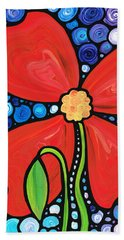 Lady In Red 2 - Buy Poppy Prints Online Beach Towel
