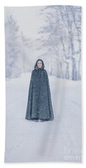 Lady Of The Winter Forest Beach Towel