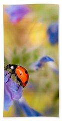 Ladybird Beach Towel by Meir Ezrachi