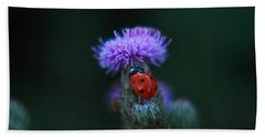 Ladybug Beach Towel by Jeff Swan