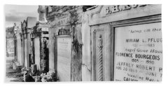 Lafayette Cemetery Black And White Beach Towel