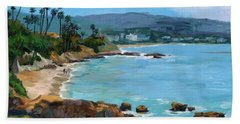Laguna Beach Winter Beach Towel by Alice Leggett