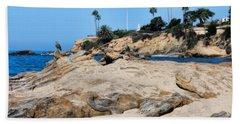 Beach Sheet featuring the photograph Laguna by Tammy Espino