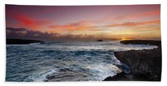 Laie Point Sunrise Beach Towel