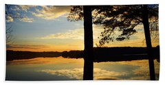 Lake At Sunrise Beach Towel