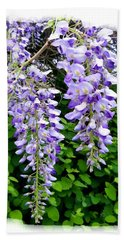 Lake Country Wisteria Beach Towel by Will Borden