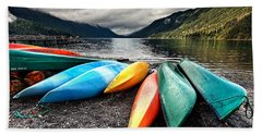 Lake Crescent Kayaks Beach Towel