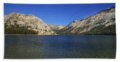 Lake Ellery Yosemite Beach Towel by David Millenheft