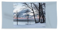 Lake Erie Sunrise Beach Towel