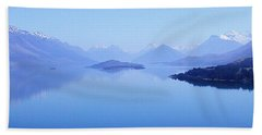 Beach Towel featuring the photograph Lake Glenorchy New Zealand by Ann Lauwers