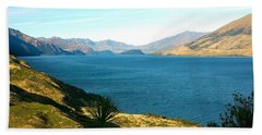 Beach Towel featuring the photograph Lake Hawea by Stuart Litoff