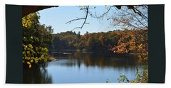 Lake In The Catskills Beach Towel